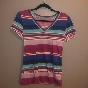 pink blue and white striped arizona shirt!